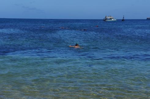 Porto de Santo Antônio, que a 100 metros da areia tem um navio naufragado que virou atração de mergulho