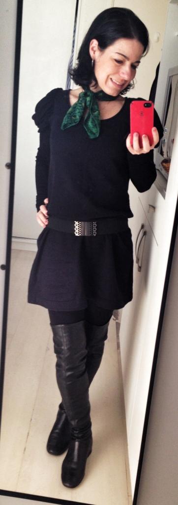 Vestido de malha: pré-reforma